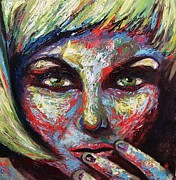 Pallet Knife Prints - Speak II  Print by Jamie Howes