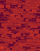 Pattern Art - Speak to Me - red by Khristian Howell