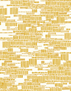 Pattern Art - Speak to Me - yellow by Khristian Howell