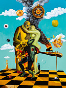 Chess Paintings - Speaking About Dali by Igor Postash