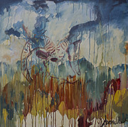 Mountain Goat Painting Prints - Spearfish Canyon Print by Avonelle Kelsey