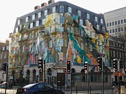 London England  Digital Art Originals - Special custom painted building by Laszlo Slezak