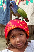Parrots Photos - Special Friendships by Karen Wiles