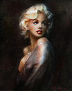 Monroe Framed Prints - SPECIAL OFFER  Diva WW black Framed Print by Theo Danella