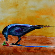 Blackbirds Posters - Special Treat Poster by Beverley Harper Tinsley