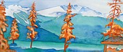 National Park Paintings - Special Trees at Jasper by Lise PICHE