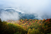 Clouds Photos - Speckled Mountain Majesty - Blue Ridge Parkway North Carolina by Anne Beatty