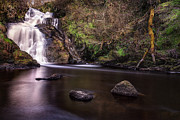 Scotland Landscape Prints Prints - Spectacle ee waterfall Print by John Farnan