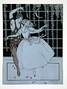 Dancing Girl Framed Prints - Spectre de la Rose Framed Print by Georges Barbier