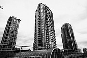 Hi-rise Framed Prints - spectrum condo towers in downtown Vancouver BC Canada Framed Print by Joe Fox