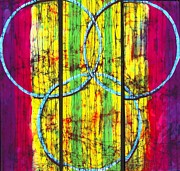 Fine Art Batik Posters - Spectrum Poster by Kay Shaffer
