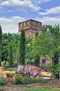 Siena Photos - Spedaletto - Tuscany castle by Joana Kruse