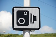 Traffic Control Photo Posters - Speed camera sign Folkestone Poster by David Fowler