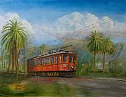 Trolley Paintings - Speed Comfort Safety by Christopher Jenkins
