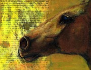 Horse Head Paintings - Speed by Frances Marino