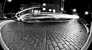 Black Photographs Prints - Speed in the Night Print by Sanely Great