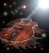 Lebron Art - Speed of Sound Digital Guitar Art by Steven Langston by Steven Lebron Langston