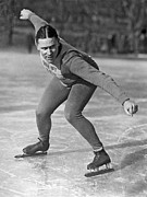 People On Ice Photos - Speed Skater At Start by Underwood Archives