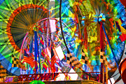 Ferris Wheels Framed Prints - Speedway Framed Print by David Lee Thompson