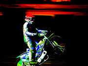 Motorsport Digital Art Posters - Speedway Poster by Jimmy Karlsson