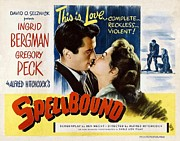 Ingrid Framed Prints - Spellbound  Framed Print by Movie Poster Prints