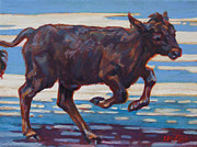 Angus Steer Painting Metal Prints - Spence Metal Print by Patricia A Griffin
