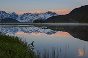 Kenai Peninsula Prints - Spencer Galcier Sunrise Print by Tim Grams