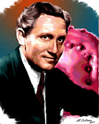 Actors Prints - Spencer Tracy Print by Allen Glass