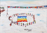 Protest Painting Prints - Speranza di pace Print by Loredana Messina