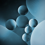 Gallery Digital Art Posters - Spheres Poster by Elena Nosyreva