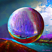 River Scenes Digital Art Prints - Sphering a Morning Effect Print by Robin Moline