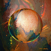 Spheres Digital Art - Sphering Lunar Vibrations by Robin Moline
