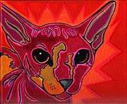 Sphynx Cat Paintings - Sphynx Cat by Kristi  Hunt