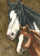 Mustang A Day Challenge Paintings - Spice and Paprika by Linda L Martin