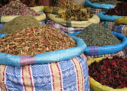 Moroccan Market Posters - Spices at the Souk Poster by Sophie Vigneault