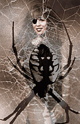 Creative Manipulation Photo Prints - Spider Composite Print by Andrew Govan Dantzler