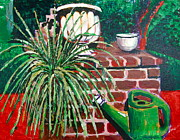 Outdoor Still Life Paintings - Spider in need by Shelley Phillips