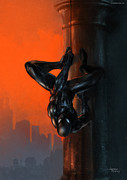 Wacom Metal Prints - Spider-Man Dusk Metal Print by Ashraf Ghori
