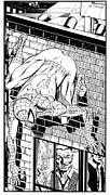 Jonah Art - Spider-man on Building by Ken Branch