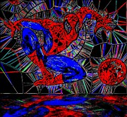 Spider-man Out Of The Web 2 Print by Saundra Myles
