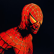 Paul Meijering Framed Prints - Spider-man Framed Print by Paul Meijering
