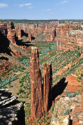Dine Posters - Spider Rock Canyon de Chelly Poster by Christine Till