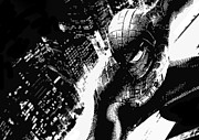 Spiderman Digital Art Prints - Spiderman - city watcher Print by Jake Bateson