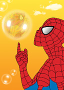 Soap Bubble Prints - Spiderman 3 Print by Mark Ashkenazi