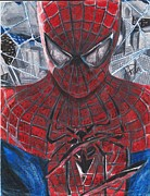 Spiderman Drawings Framed Prints - Spiderman Framed Print by Adrian  Casanova