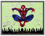 Scott Parker Metal Prints - Spiderman- Autographed Metal Print by Scott Parker