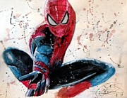 Spiderman Paintings - Spiderman by Daniel Piskorski