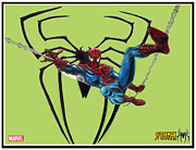 Superheros Drawings - Spiderman Image 2 by Scott Parker