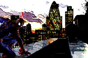 Amazing Mixed Media Prints - Spiderman in London Print by The DigArtisT