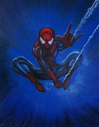 Spiderman Paintings - Spiderman the Amazing by Jeff Stephens